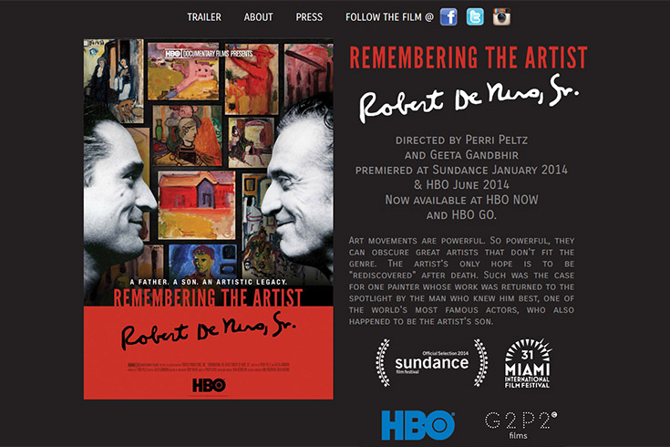 Remembering the Artist: Robert DeNiro Sr.